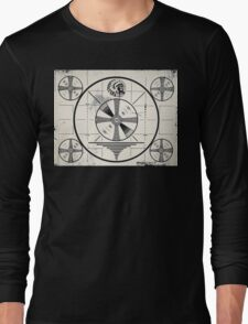 Retro TV Monoscope Test Pattern Long Sleeve T-Shirt