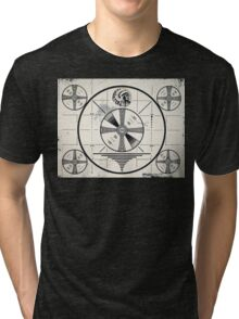 Retro TV Monoscope Test Pattern Tri-blend T-Shirt