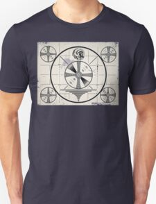 Retro TV Monoscope Test Pattern Unisex T-Shirt