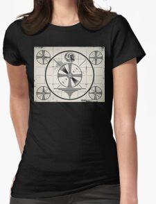 Retro TV Monoscope Test Pattern Womens Fitted T-Shirt