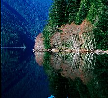 Crescent Lake, Washington by jeff lamb