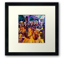 GYMPIE MUSTER- COLLECTION - the GROVE - RED HOT POKER DOTS Framed Print