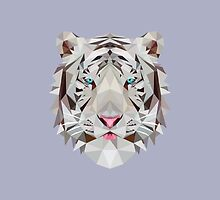 Low-Poly White Tiger by Mesomex