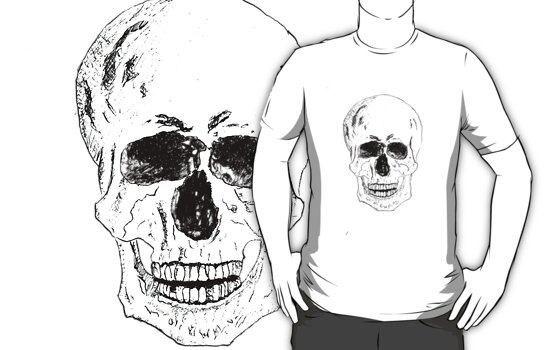 Pen and Ink Skull by mcolbert