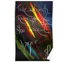 YOU ARE UNIQUE- artist quote TOLA Poster