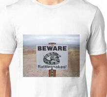 Beware, Rattlesnakes, South Dakota, Usa Unisex T-Shirt