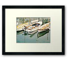 Three Little Boats Framed Print