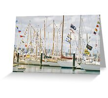 Flying The Colours Greeting Card