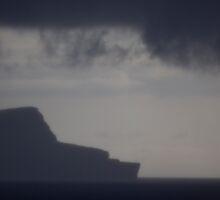 Isle of Noss in fog, Shetland by Gabor Pozsgai