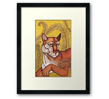 Goldeneye (The Cougar) Framed Print