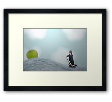 It happened one morning while crossing the duckpond to do ten impossible things that day. Framed Print
