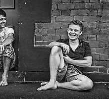 Two Guys, Two Beers and a Laugh by Janet Rogerson