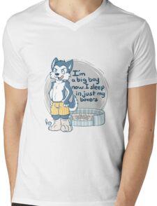 Big boy husky. Mens V-Neck T-Shirt