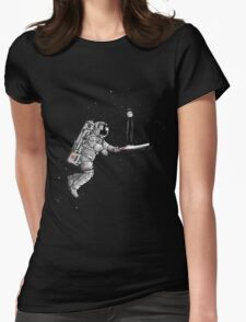 Space cricket Womens Fitted T-Shirt