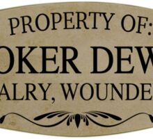 Property Of Booker Dewitt Sticker