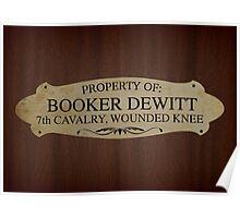 Property Of Booker Dewitt Poster