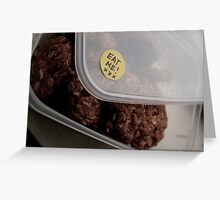 Eat Me — Anzac Biscuits Greeting Card