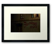 Flamingo Lounge (northside entrance) Framed Print