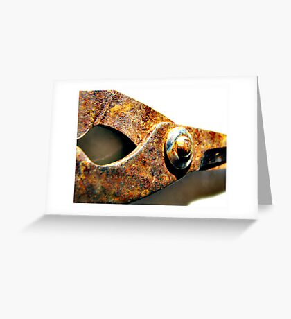 rusted blades Greeting Card