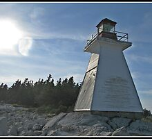 Indian Harbour Lighthouse Nova Scotia by Roxane Bay