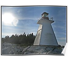 Indian Harbour Lighthouse Nova Scotia Poster