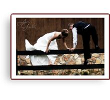 Fence Jumpers Canvas Print