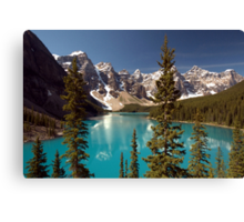 Lake Louise 2 Golden Images Canvas Print