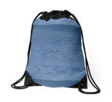 Blue Woodgrain by Kordial Orange Drawstring Bag