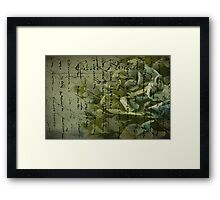 Variations on the Word Love  Framed Print