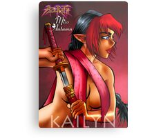 Girls of Azerath - Miss Autumn Metal Print