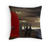 BEYOND THE RED GATE Throw Pillow