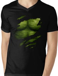 The Incredible Green Super Soldier Mens V-Neck T-Shirt