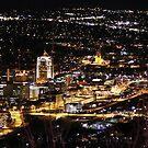 Street lights, big dreams all looking pretty! Roanoke, Virginia by Leah Snyder
