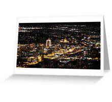 Street lights, big dreams all looking pretty! Roanoke, Virginia Greeting Card