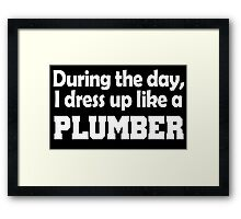 during the day i dress up like a plumber Framed Print