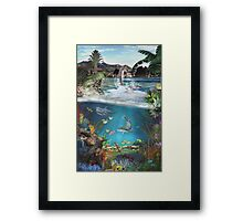 Above & Below Framed Print