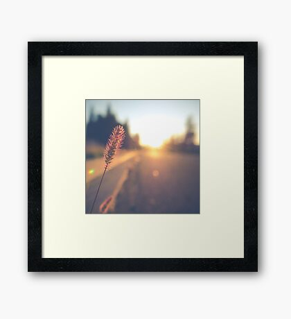 Retro Sunset Street Scene Framed Print