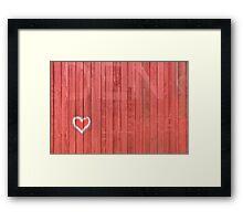 Good & Red Barn by Kordial Orange Framed Print