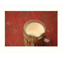 hot tea with milk Art Print