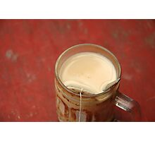 hot tea with milk Photographic Print