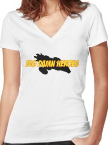 Big Damn Heroes (Firefly/Serenity) Women's Fitted V-Neck T-Shirt