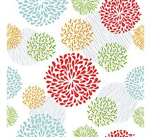 Seamless Floral Pattern Photographic Print