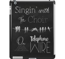 Singing Birds on a Wire chalkboard art iPad Case/Skin