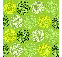 Green Floral Pattern Photographic Print