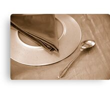 dinner place setting Canvas Print