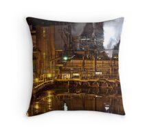 Industrial Nights {Smokestack} Throw Pillow