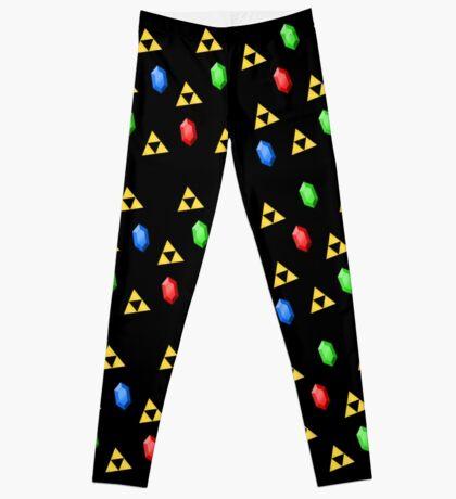 Triforce and Rupees Pattern - Zelda Leggings