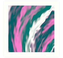 Colorful cold flames abstraction Art Print