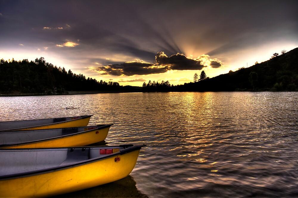 Yellow Canoes by Bob Larson