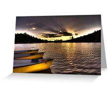 Yellow Canoes Greeting Card